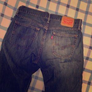 Levi 514 Blue Jeans 33 x 32